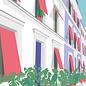 ma004   Modern Art   Houses - postcard A6