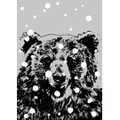ff08710 | freshfish | Bear In Snow - postcard A6
