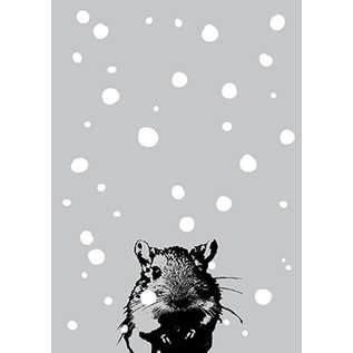 ff09405 | freshfish | Maus im Schnee    - Postkarte A6