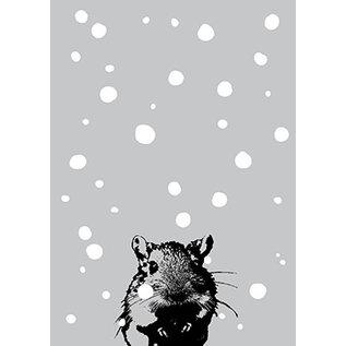 ff09405 | freshfish | Mouse In Snow - postcard A6