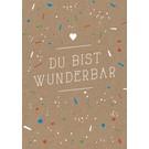 df040 | Designfräulein | Du bist wunderbar  - Postkarte A6