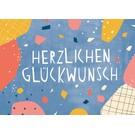 df301 | Designfräulein | Herzlichen Glückwunsch - Postkarte A6