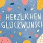 df301   Designfräulein   Herzlichen Glückwunsch - Postkarte A6