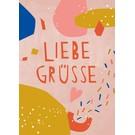 df303 | Designfräulein | Liebe Grüsse - Postkarte A6