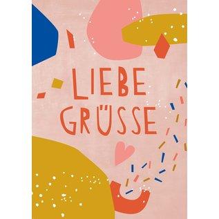 Designfräulein df303 | Designfräulein | Liebe Grüsse - Postkarte A6