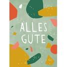 df302 | Designfräulein | Alles Gute - Postkarte A6