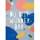 df304 | Designfräulein | Du bist wunderbar - Postkarte A6