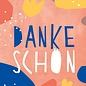 Designfräulein df305   Designfräulein   Dankeschön - Postkarte A6