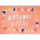 df308 | Designfräulein | Birthday Kisses - Postkarte A6