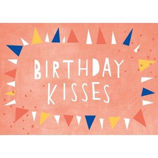 df308 | Designfräulein | Birthday Kisses - postcard A6