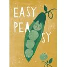 df309 | Designfräulein | Easy Peasy - Postkarte A6