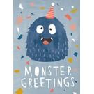 Designfräulein df310 | Designfräulein | Monster Greetings - Postkarte A6