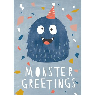 df310   Designfräulein   Monster Greetings - Postkarte A6