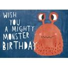 Designfräulein df311 | Designfräulein | Wish you a mighty monster birthday - Postkarte A6