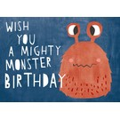 df311 | Designfräulein | Wish you a mighty monster birthday - Postkarte A6