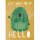 df312 | Designfräulein | Just Want To Say Hello - postcard A6