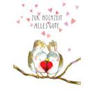 tg058 | Tabea Güttner | Zur Hochzeit alles Gute - Klappkarte