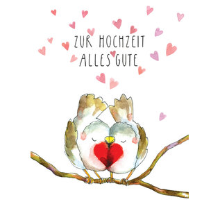 tg058 | Tabea Güttner | All the best for the wedding - folding card