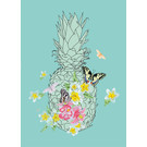 mi001 | m-illu | Pineapple - postcard A6