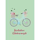 mi004 | m-illu | Glückwunsch Fahrrad - Postkarte A6