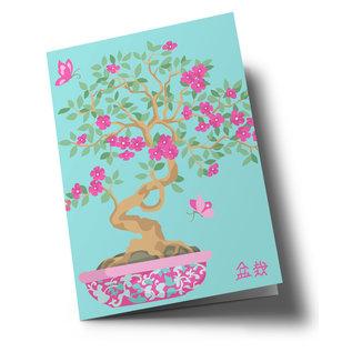 ha329 | happiness | Bonsai - Klappkarte