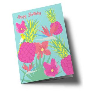 ha333 | happiness | Herzlichen Glückwunsch - Ananas - Klappkarte