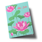 ha336 | happiness | All the best - lotus flowers - folding card