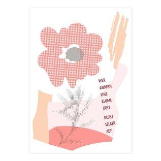 FZYP077    You've Got Post   Wer andern eine Blume säht, blüht selber auf. - Postkarte  A6