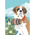 cc175 | Postkarte - Spring Saint Bernard
