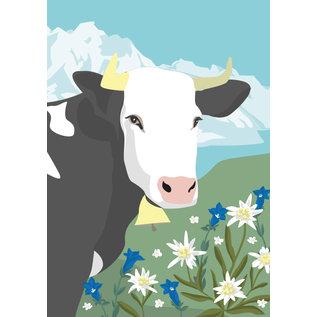cc176 | Postcard  - Spring Cow