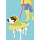 lu200 | Postkarte - dog walk
