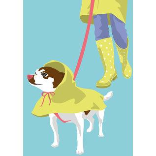 lu200 | Postcard - dog walk