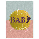 FZ-Y-11709    You've Got Post   this baby rocks - Postkarte  A6