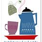 FZYP043 |  You've Got Post | Heute betrinke ich mich mit Tee - Postkarte  A6
