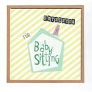 FZ-GS-91702 |  Der Gute Schein | Baby Sitting Gutschein - Gutscheinkarte  A6