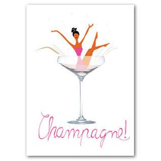 FZDE020 |  Delicious | Champagne! - Postkarte  A6