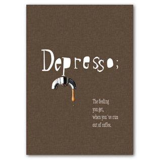 FZDE019 |  Delicious | Depresso - Postkarte  A6