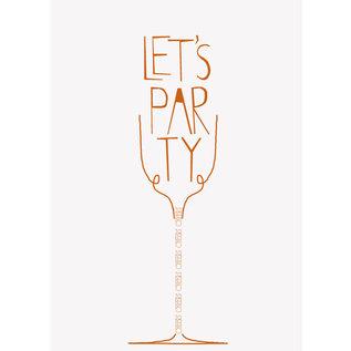 FZDE015 |  Delicious | Let's party - Postkarte  A6