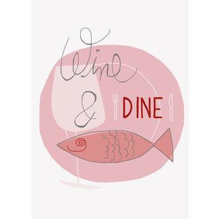 FZDE014    Delicious   Wine & Dine - Postkarte  A6