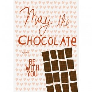 FZDE012 |  Delicious | May the Chocolate always be with you - Postkarte  A6