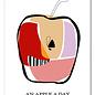 FZDE009    Delicious   an apple a day - Postkarte  A6