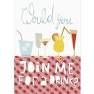 FZ-D-41403 |  Delicious | Would You Join Me For A Drink? - postcard A6