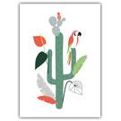 FZ-F-28011    Feel.Free   Parrot Palm Cactus - postcard A6