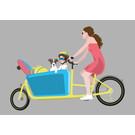 lu210 | Postcard  - family cargo bike