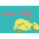 lu211 | Postcard  - dolphin wishes