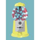 lu214 | Postcard  - gumball machine