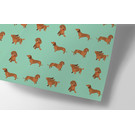 cc732 | wiener dog - wrapping paper