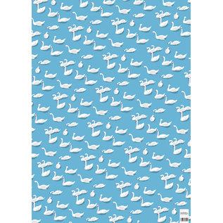 cc736   Schwäne - Geschenkpapier Bogen 50 x 70 cm
