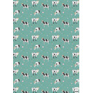 cc737 | flower cows - wrapping paper Bogen 50 x 70 cm