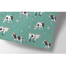 cc737 | flower cows - wrapping paper